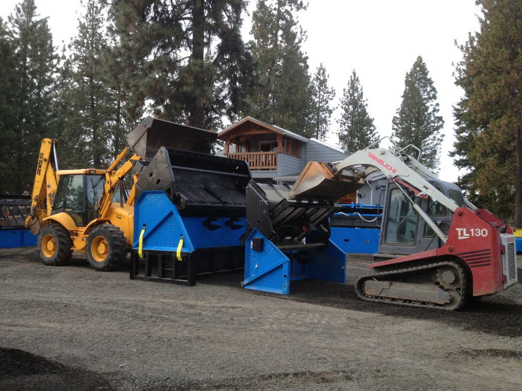 Compare the sizes of our small and large topsoil screeners