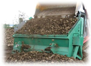 PVG-12V is the workhorse of topsoil rock screeners. It is portable and affordable.